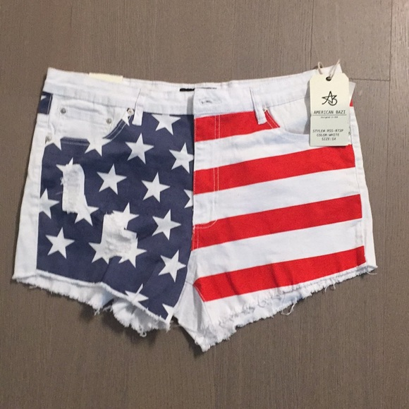 American Bazi Pants - NWT American Flag Shorts